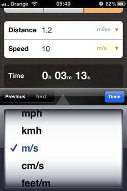 Speed Distance Time Calculator - iPhone App Screenshot 3